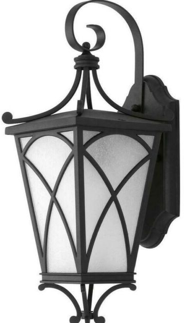 Well Known Feuerstein Black 16'' H Outdoor Wall Lanterns Pertaining To Progress Lighting Cadence Collection 1 Light  (View 18 of 20)
