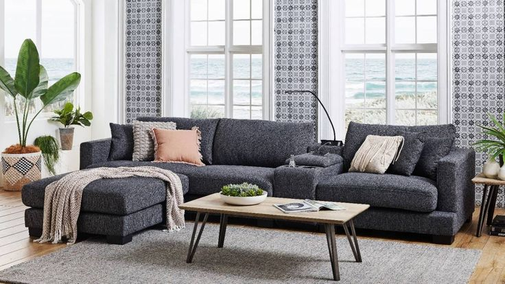 Well Known Frontier 3 Seater Fabric Sofa With Console (View 14 of 20)