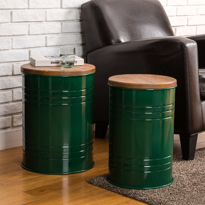Well Known Gracie Navy Sofas Pertaining To Gracie Oaks Pieper 2 Piece Storage Accent Stool Set (View 18 of 20)