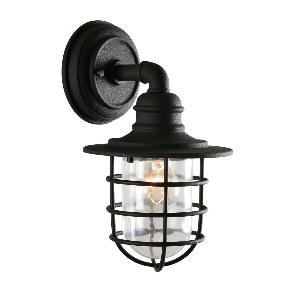 Well Known Kenroy Home Eli 1 Light Black Outdoor Wall Mount Lantern Regarding Nayen Black Wall Lanterns (View 17 of 20)