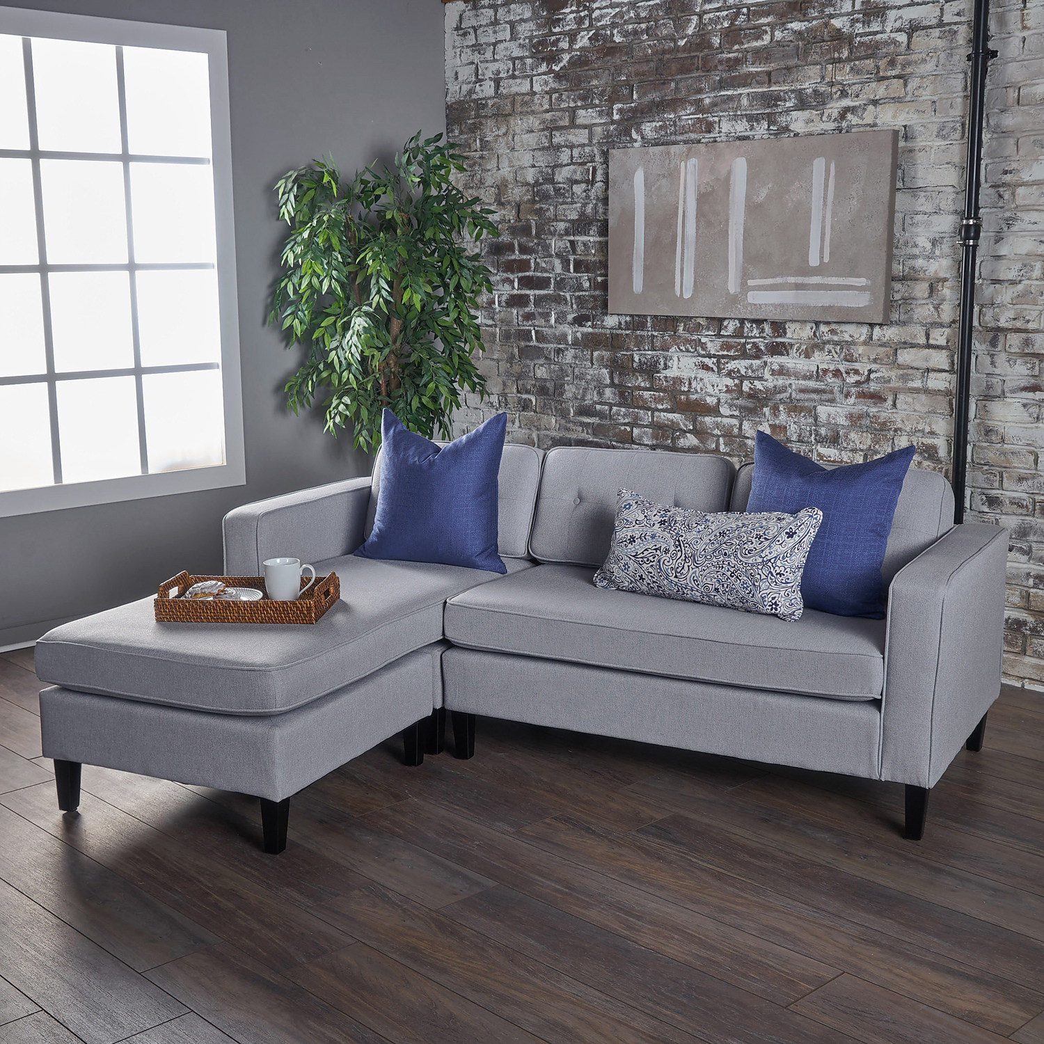 Well Known Light Gray Wilder Chaise Sectional Sofa – Pier1 For Sectional Sofas In Gray (View 4 of 20)