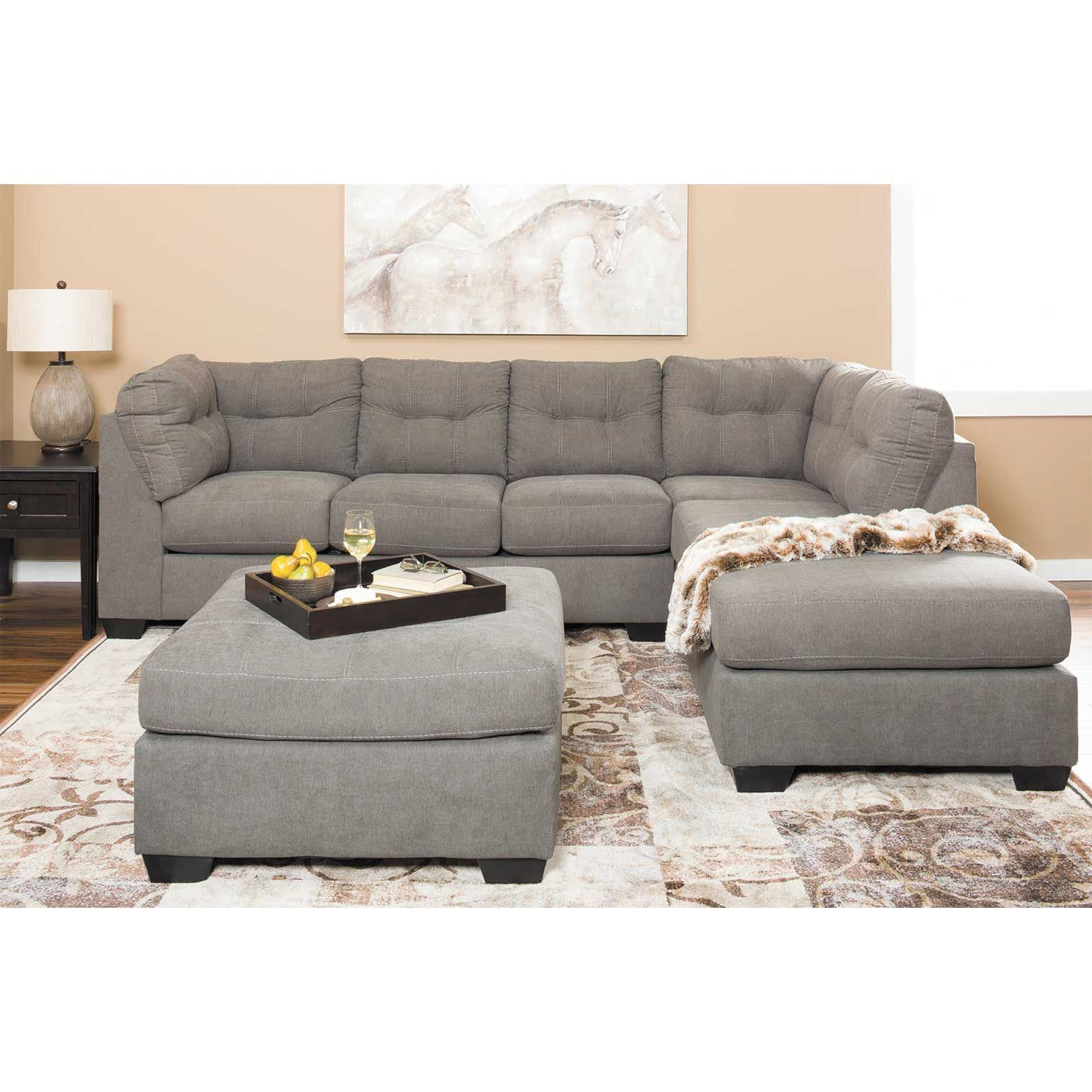 Well Known Maier Charcoal 2 Piece Sectional With Raf Chaise 4520017 For 2pc Burland Contemporary Sectional Sofas Charcoal (View 1 of 20)