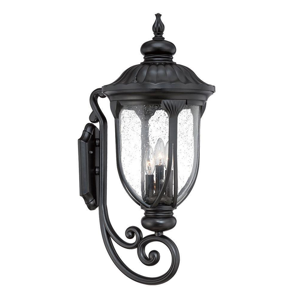 Well Known Mccay Matte Black Outdoor Wall Lanterns Throughout Acclaim Lighting Laurens Collection 3 Light Matte Black (View 7 of 20)