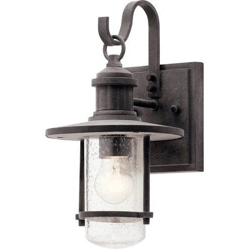 Well Known Mcdonough Wall Lanterns Throughout Kichler 12 1/2 Inch 1 Bulb Riverwood Incandescent Outdoor (View 2 of 20)