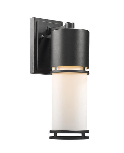 Well Known Nika 1 Light Black Outdoor Integrated Led Wall Mount Regarding Vernie Black Integrated Led Outdoor Bulkhead Lights (View 5 of 20)