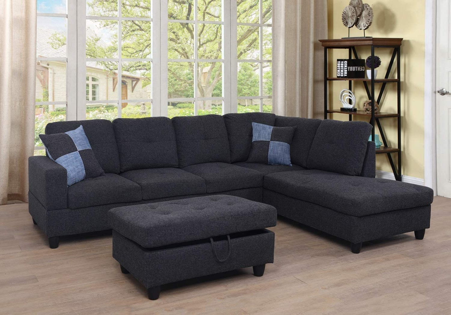 Well Known Ponliving Furniture 3 Pcpiece Sectional Sofa Couch Set, L Regarding Hannah Right Sectional Sofas (View 1 of 20)