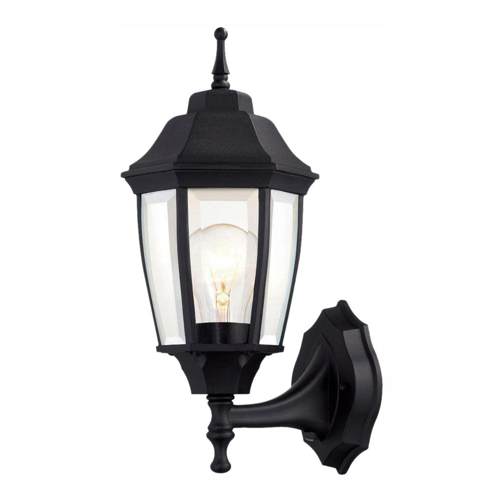 Well Known Powell Outdoor Wall Lanterns Regarding Hampton Bay 1 Light Black Dusk To Dawn Outdoor Wall (View 8 of 20)