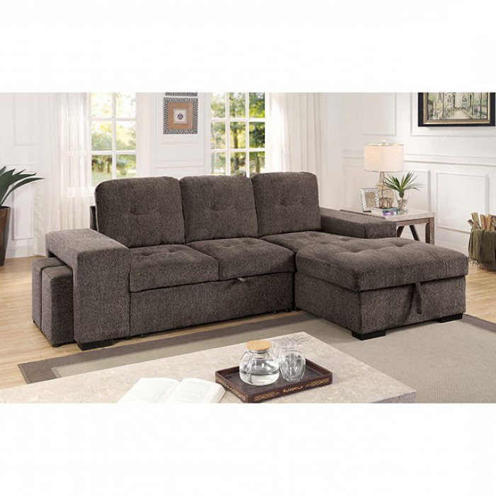 Well Known Prato Storage Sectional Futon Sofas Inside Jamiya Sectional Sofa With Storage Compartment (View 9 of 20)