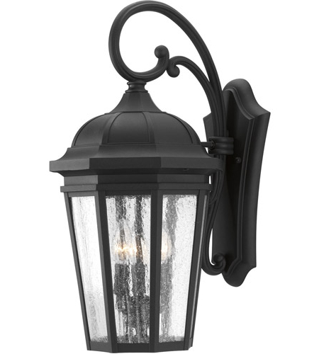 Well Known Progress P560016 031 Verdae 3 Light 22 Inch Black Outdoor In Rockmeade Black Outdoor Wall Lanterns (View 9 of 20)