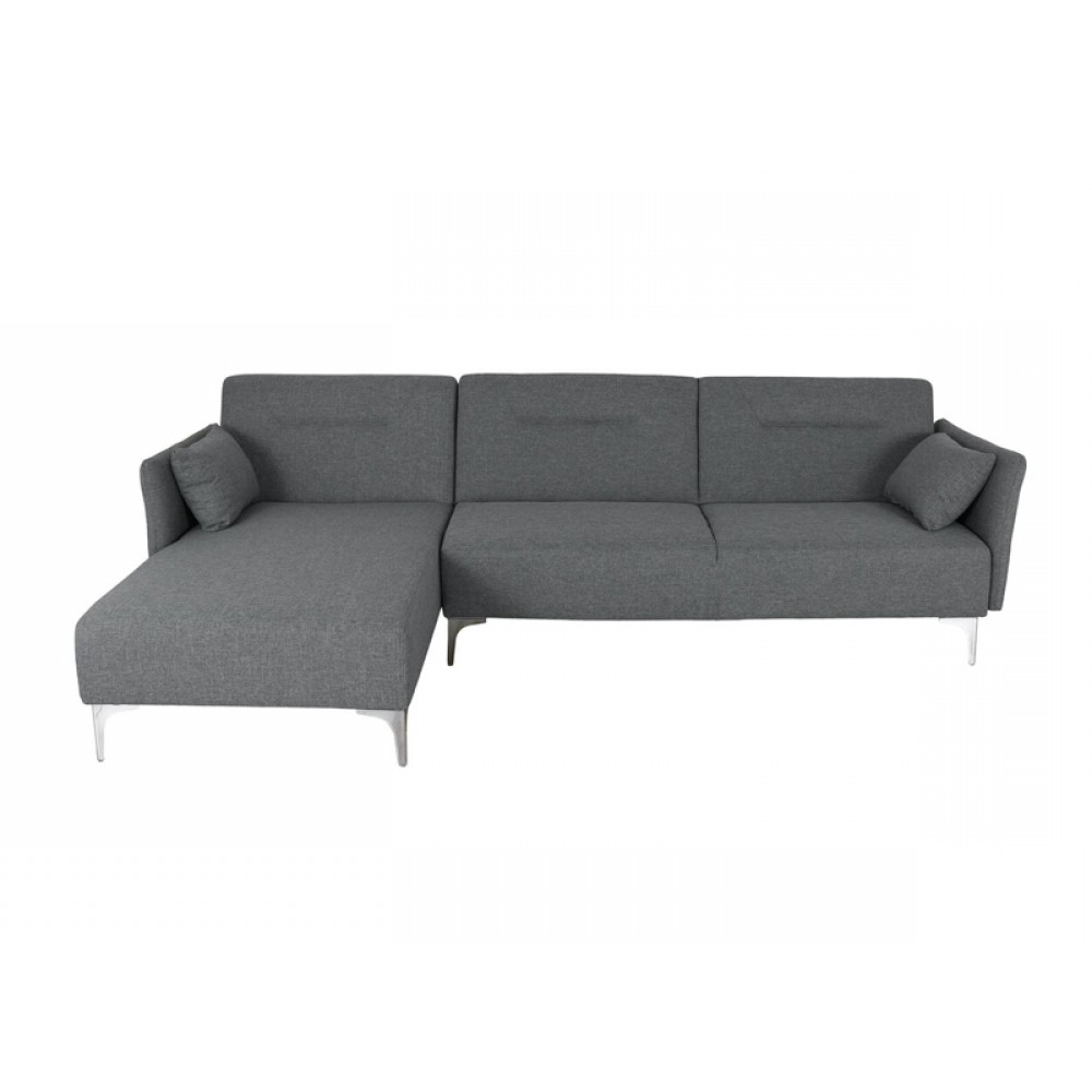 Well Known Sectional Sofa,sofa Bed,right Side Facing Chaise,linen Pertaining To Polyfiber Linen Fabric Sectional Sofas Dark Gray (View 11 of 20)