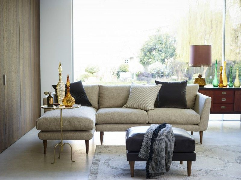 Well Known Setoril Modern Sectional Sofa Swith Chaise Woven Linen Throughout The Holly Right Hand Chaise In Undyed Broad Weave Linen, £ (View 3 of 20)