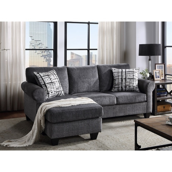 Well Known Shop Merax Upholstered Modern Linen Fabric L Shape 3 Intended For Mireille Modern And Contemporary Fabric Upholstered Sectional Sofas (View 8 of 20)