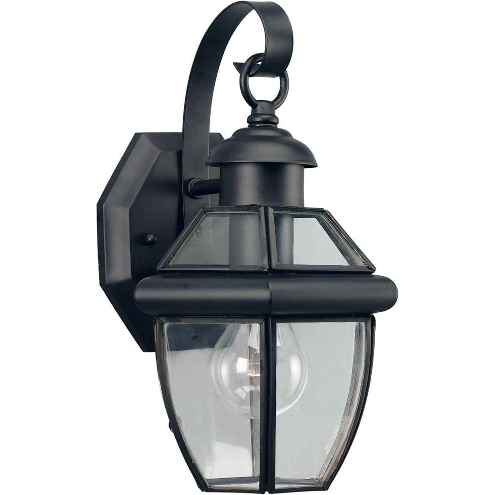 Well Known Talista 1 Light Outdoor Black Wall Lantern With Clear Pertaining To Socorro Black Outdoor Wall Lanterns (View 14 of 20)