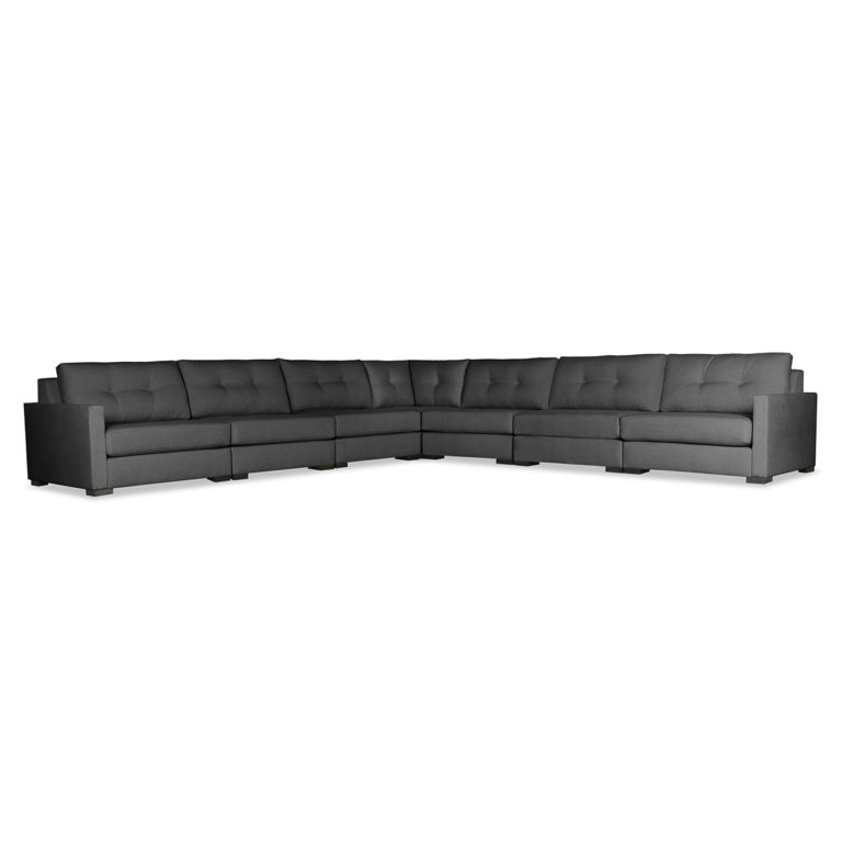 Well Known Wilton Fabric Sectional Sofas Pertaining To Wilton Buttoned Modular Sectional Right And Left Arms L (View 9 of 20)