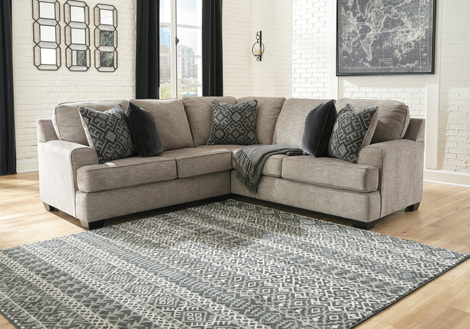 Well Liked 2pc Maddox Right Arm Facing Sectional Sofas With Cuddler Brown In Sectionals (View 12 of 17)