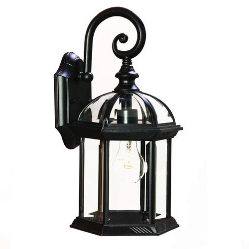 Well Liked Acclaim Lighting Dover 16 In H Matte Black Medium Base (e Regarding Feuerstein Black 16'' H Outdoor Wall Lanterns (View 6 of 20)