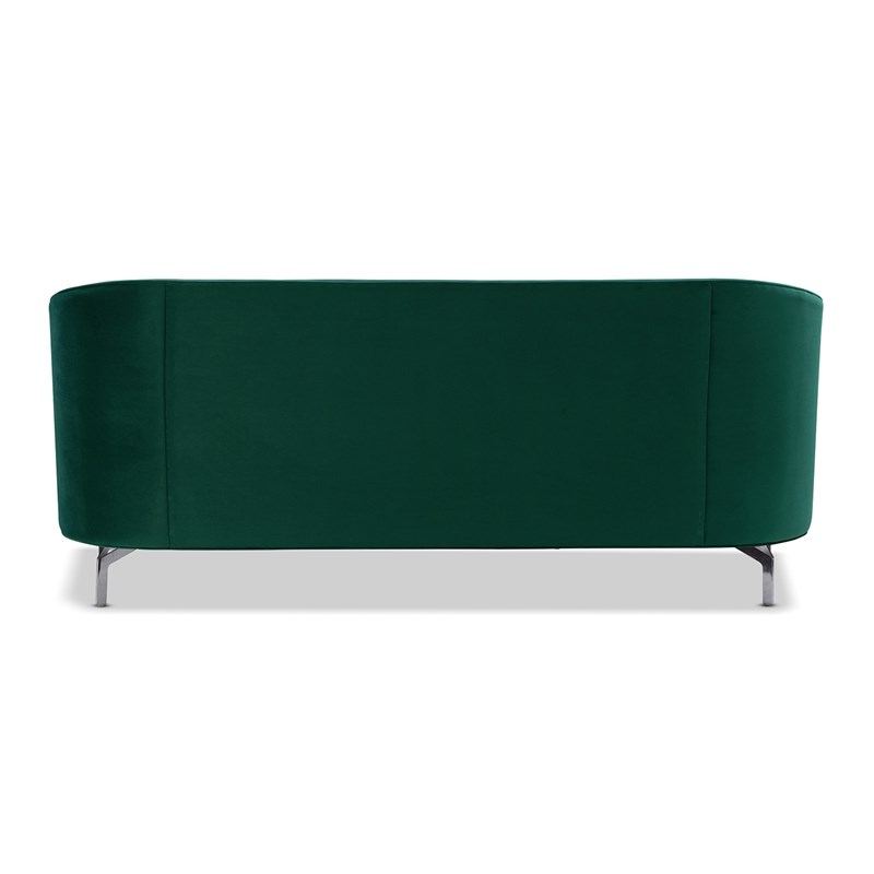 Well Liked Annette Navy Sofas Intended For Sandy Wilson Home Annette Modern Sofa With Polished Metal (View 6 of 20)