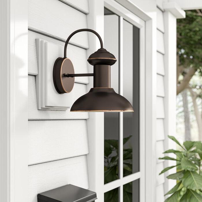 Well Liked Beachcrest Home Crandallwood Outdoor Barn Light & Reviews Regarding Crandallwood Wall Lanterns (View 10 of 20)