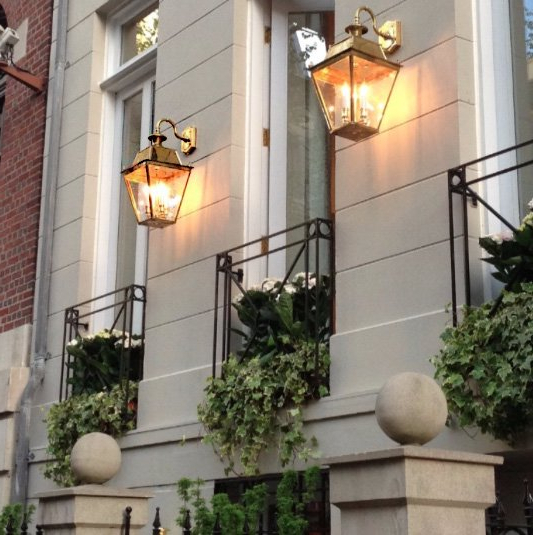 Well Liked Borde Black Outdoor Wall Lanterns Inside Balmoral Large Brass 3 Light Victorian Downward Outdoor (View 20 of 20)
