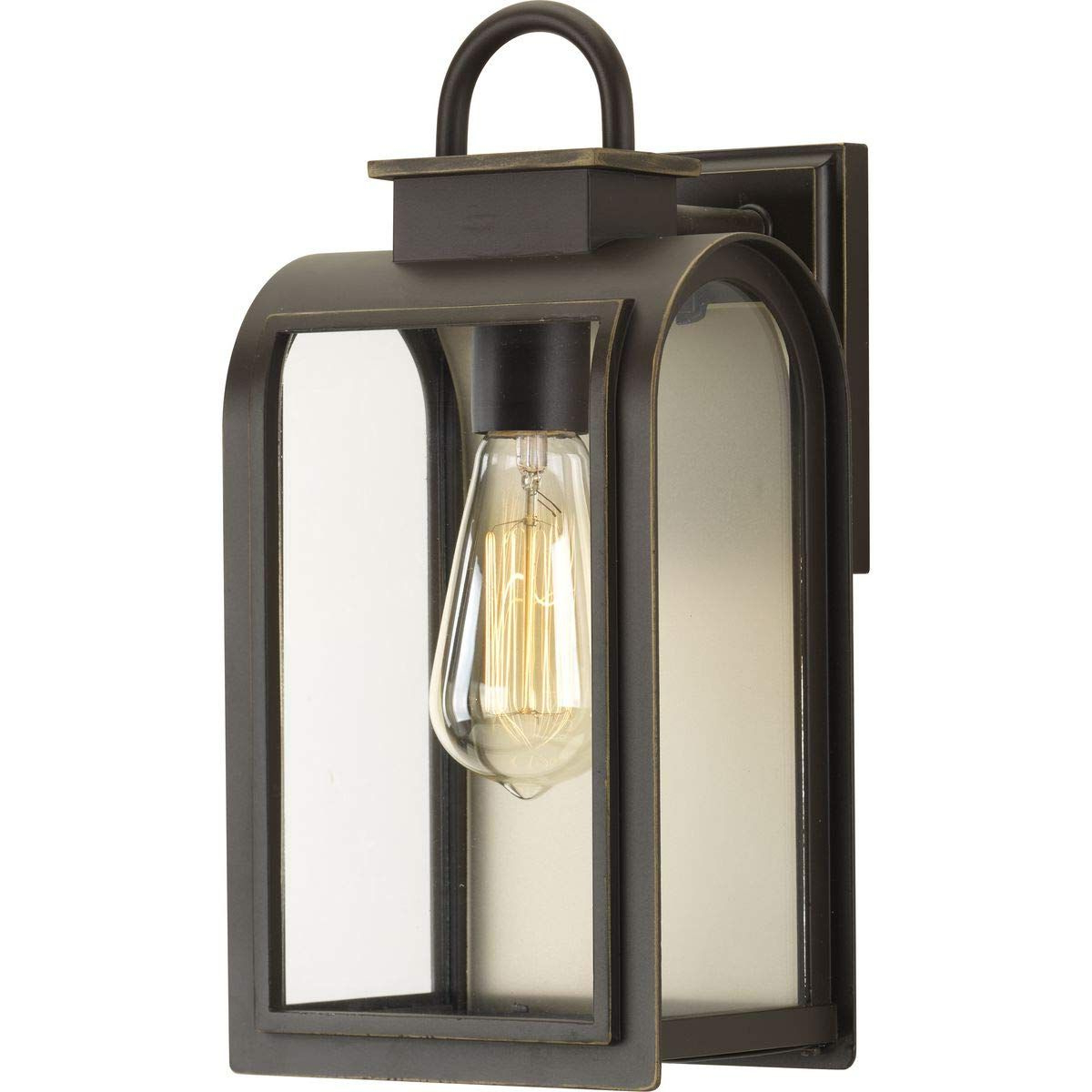 Well Liked Brierly Oil Rubbed Bronze/black Outdoor Wall Lanterns Throughout Progress Lighting P6030 108 Traditional/casual 1 100w Med (View 15 of 20)