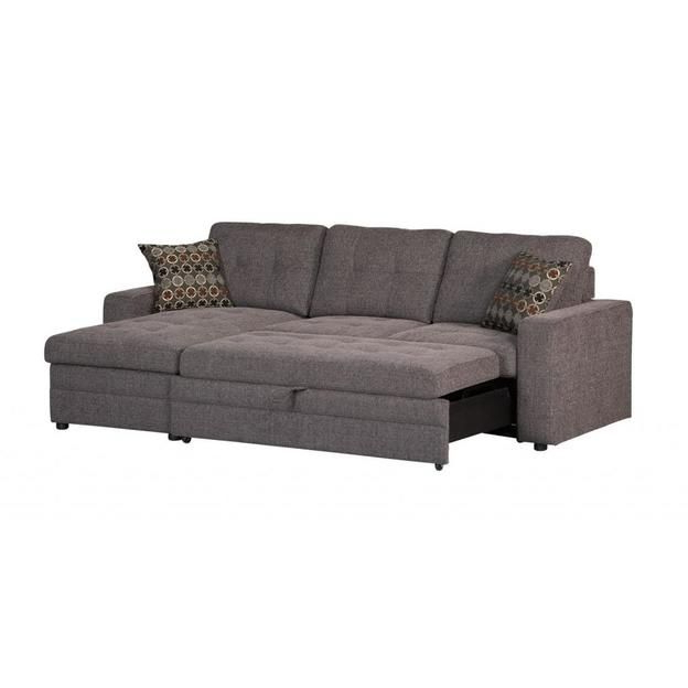 Well Liked Coaster Coaster Gus Charcoal Chenille Upholstery Small For Hugo Chenille Upholstered Storage Sectional Futon Sofas (View 5 of 20)