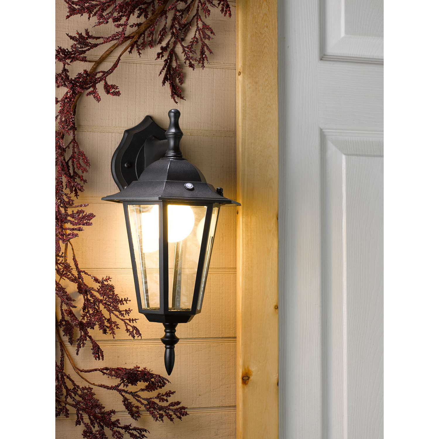 Well Liked Edinburg Black Outdoor Wall Lanterns With Regard To Honeywell Ss0601 08 Led Outdoor Wall Mount Lantern Light (View 12 of 20)