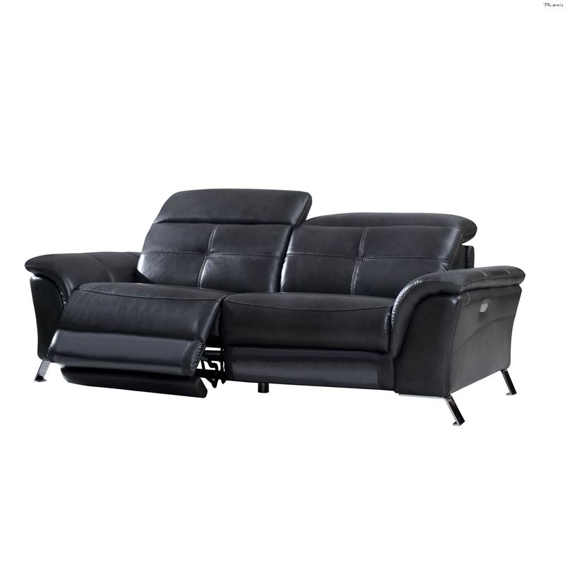 Well Liked Modern 2619 Dark Grey Leather Power Reclining Sofaesf For Pacifica Gray Power Reclining Sofas (View 6 of 20)