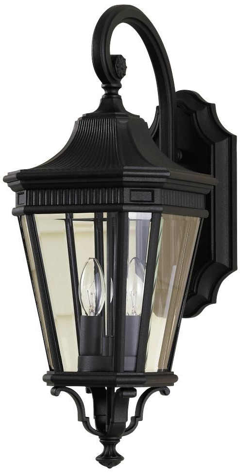 """Well Liked Rockefeller Black 2 – Bulb  Outdoor Wall Lanterns With Feiss Cotswold Lane 20 1/2""""h Black Outdoor Wall Light (View 17 of 20)"""
