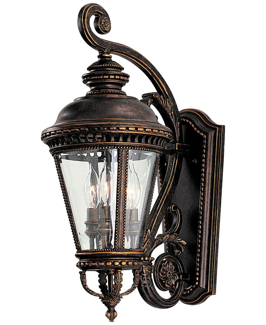 Well Liked Roden Black 3 Bulb Outdoor Wall Lanterns Inside Feiss Castle 3 Light Wall Lantern – Lighting & Lamps – For (View 18 of 20)