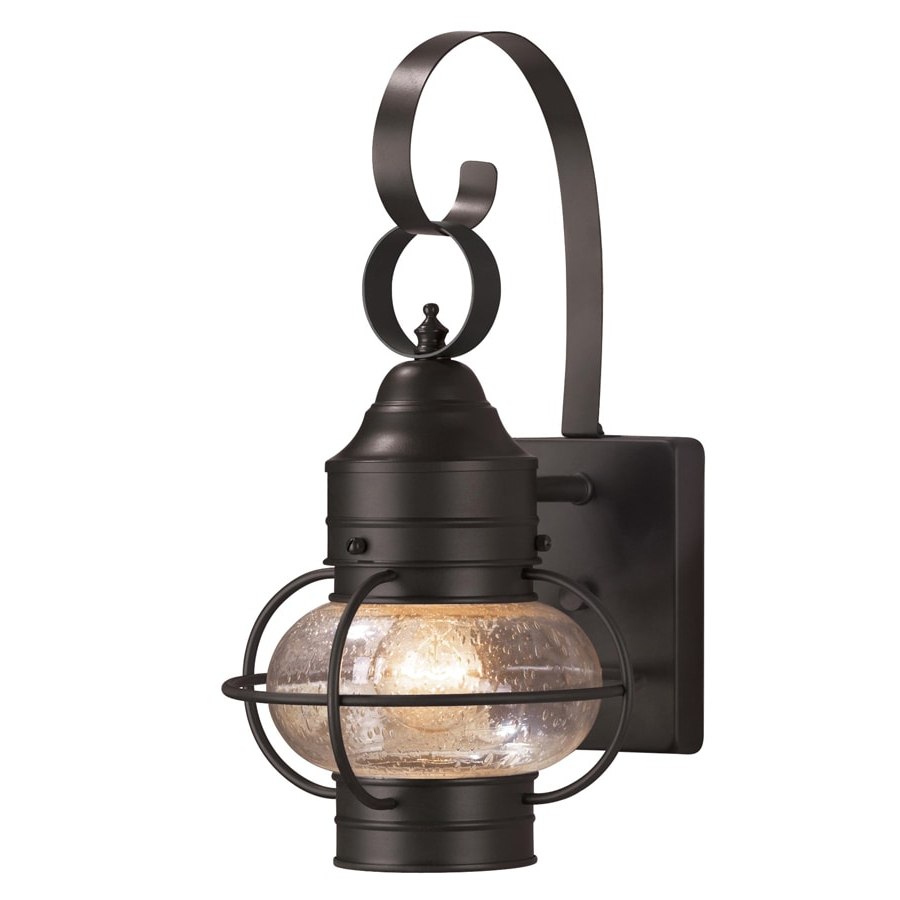 Well Liked Shop Portfolio Trevett 14 In H Matte Black Outdoor Wall In Esquina Powder Coated Black Outdoor Wall Lanterns (View 20 of 20)