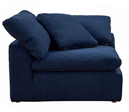 Well Liked Sunset Trading Cloud Puff Sectional, 4 Piece Slipcovered L Regarding Dream Navy 3 Piece Modular Sofas (View 7 of 20)