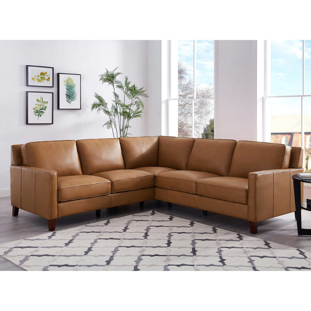 West Park Leather Sectional (View 3 of 20)