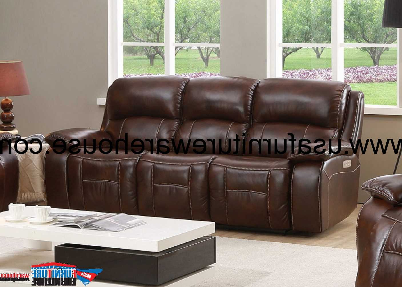 Westminster Genuine Leather Power Reclining Sofa With Within Most Popular Marco Leather Power Reclining Sofas (View 17 of 20)
