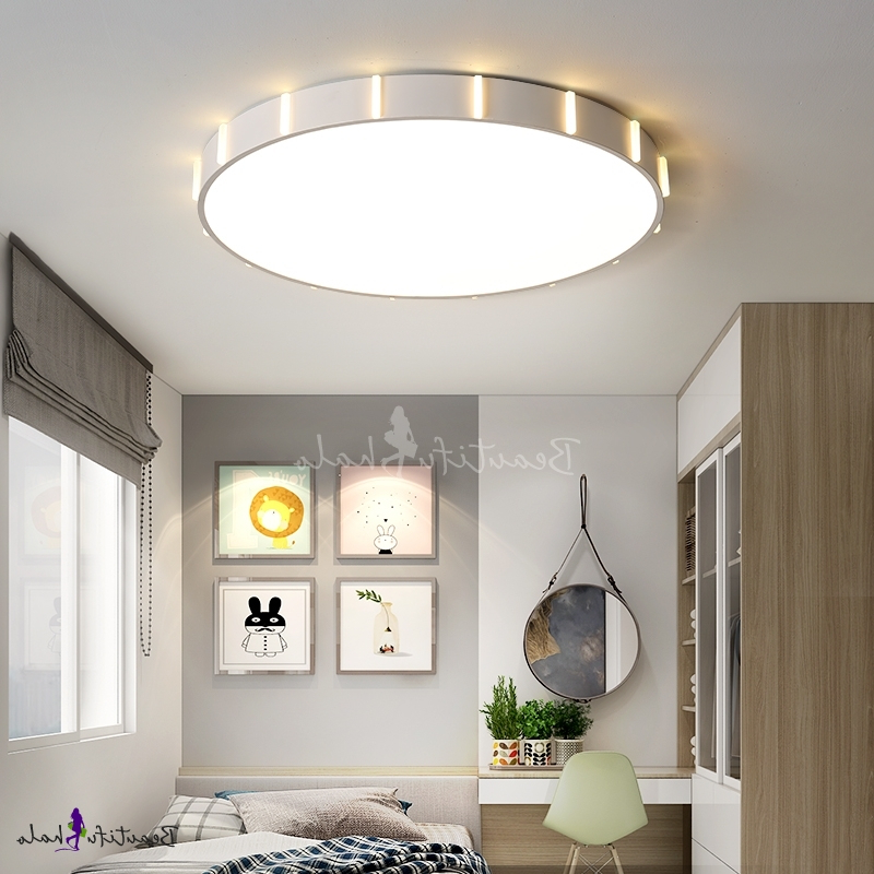Whisnant Black Integrated Led Frosted Glass Outdoor Flush Mount Intended For 2019 Modern Flush Mount Ceiling Light With Frosted Diffuser (View 12 of 20)
