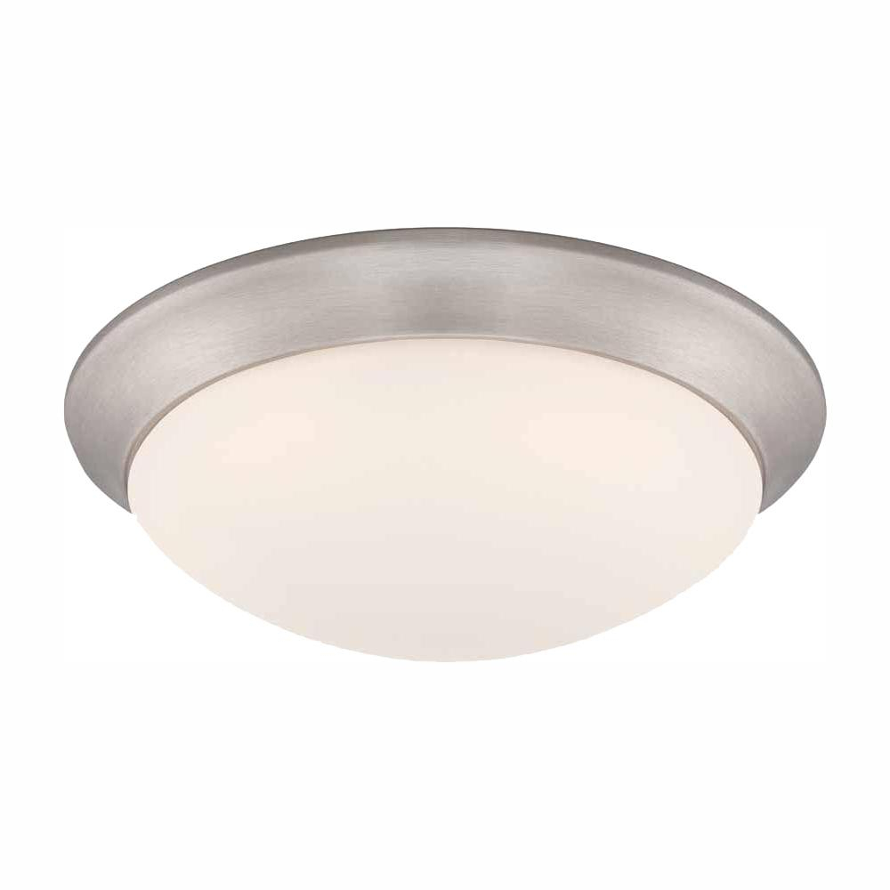 Whisnant Black Integrated Led Frosted Glass Outdoor Flush Mount Throughout Widely Used Commercial Electric 11 In (View 3 of 20)