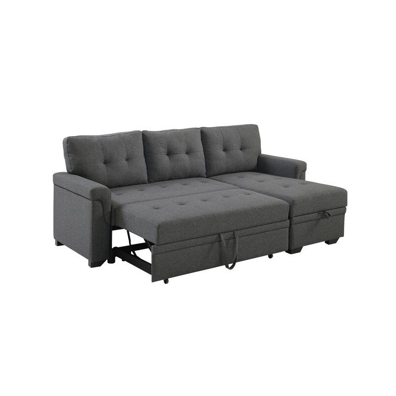 """Whitby 86"""" Wide Reversible Sleeper Sofa & Chaise In 2021 With Preferred Copenhagen Reversible Small Space Sectional Sofas With Storage (View 17 of 20)"""