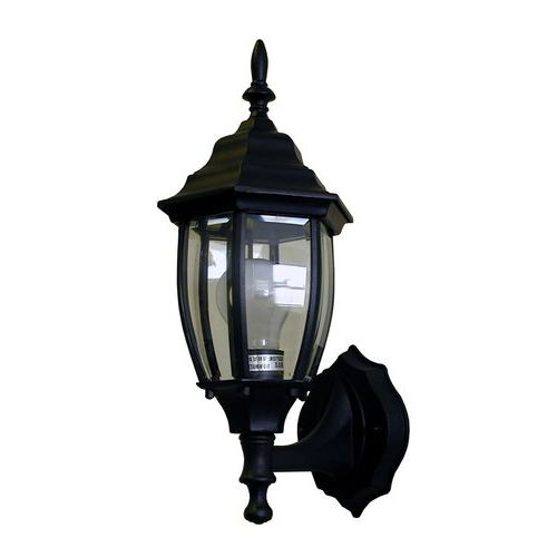 Whitfield Lighting Nathan 15 In H Black Outdoor Wall Light With Regard To Famous Esquina Powder Coated Black Outdoor Wall Lanterns (View 10 of 20)