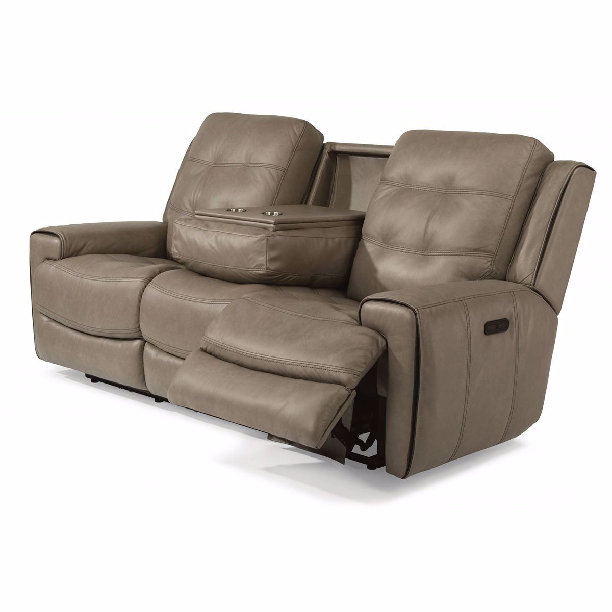 Wicklow Power Reclining Leather Sofa With Power Headrest Throughout Most Recent Charleston Power Reclining Sofas (View 1 of 20)