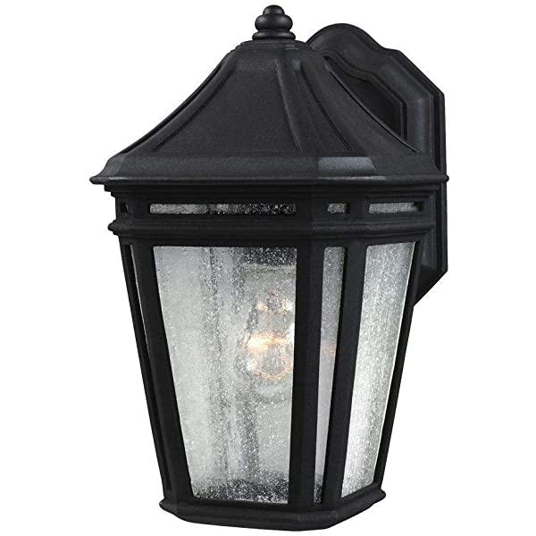Widely Used 1 Light Black Outdoor Integrated Led Wall Lantern Sconce Regarding Vernie Black Integrated Led Outdoor Bulkhead Lights (View 2 of 20)