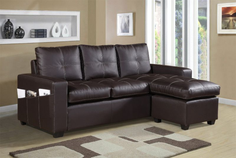 Widely Used 2 Pc Everly Brown Faux Leather Sectional Sofa Set With Regarding 3pc Faux Leather Sectional Sofas Brown (View 2 of 20)
