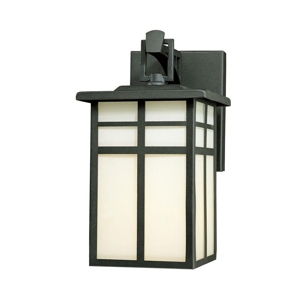 Widely Used Bellefield Black Outdoor Wall Lanterns With Regard To Thomas Lighting Mission 1 Light Black Outdoor Wall Mount (View 11 of 20)