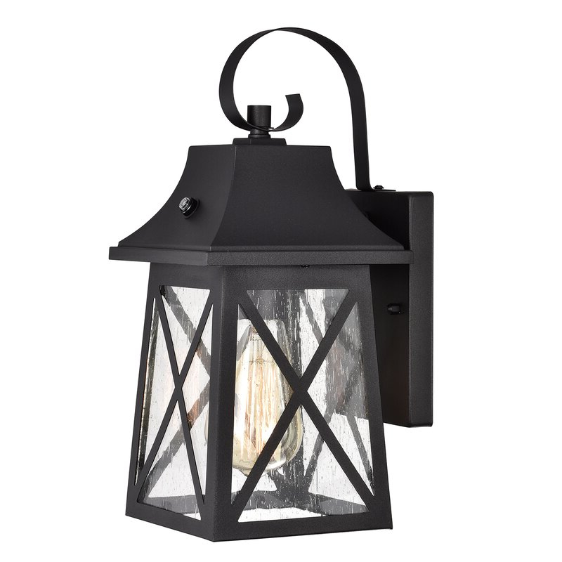 Widely Used Brook Black Seeded Glass Outdoor Wall Lanterns With Dusk To Dawn Inside Longshore Tides Liddel  (View 2 of 20)