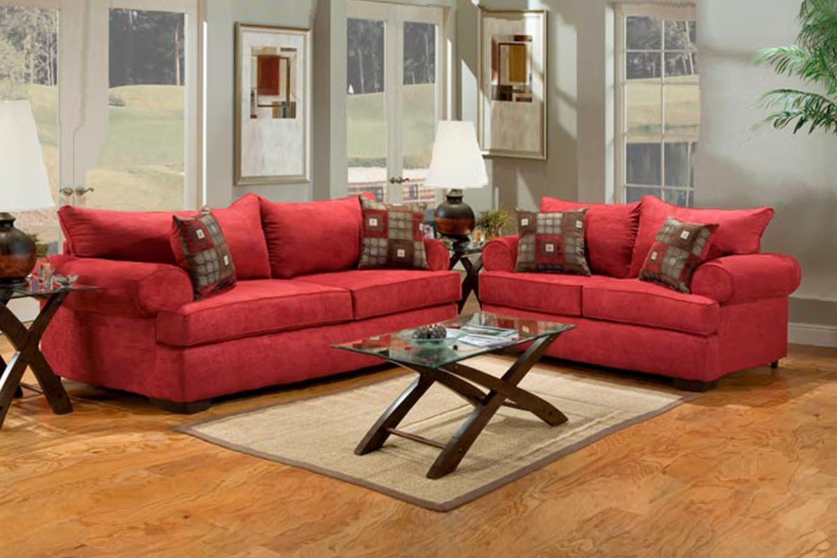Widely Used Buy Red Fabric Sofa Set In Lagos Nigeria Within Red Sofas (View 14 of 20)
