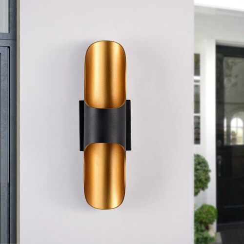 Widely Used Cantrall 2 – Bulb Outdoor Armed Sconces With Regard To Orren Ellis Akeem 2 – Bulb  (View 20 of 20)