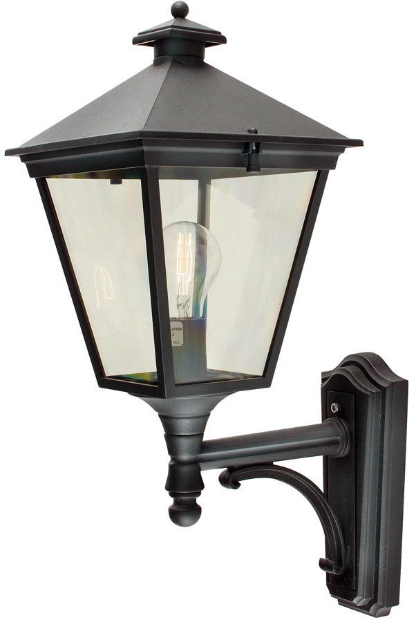 Widely Used Caroline Outdoor Wall Lanterns Intended For Turin Traditional Black Upward Facing Outdoor Wall Lantern (View 16 of 20)