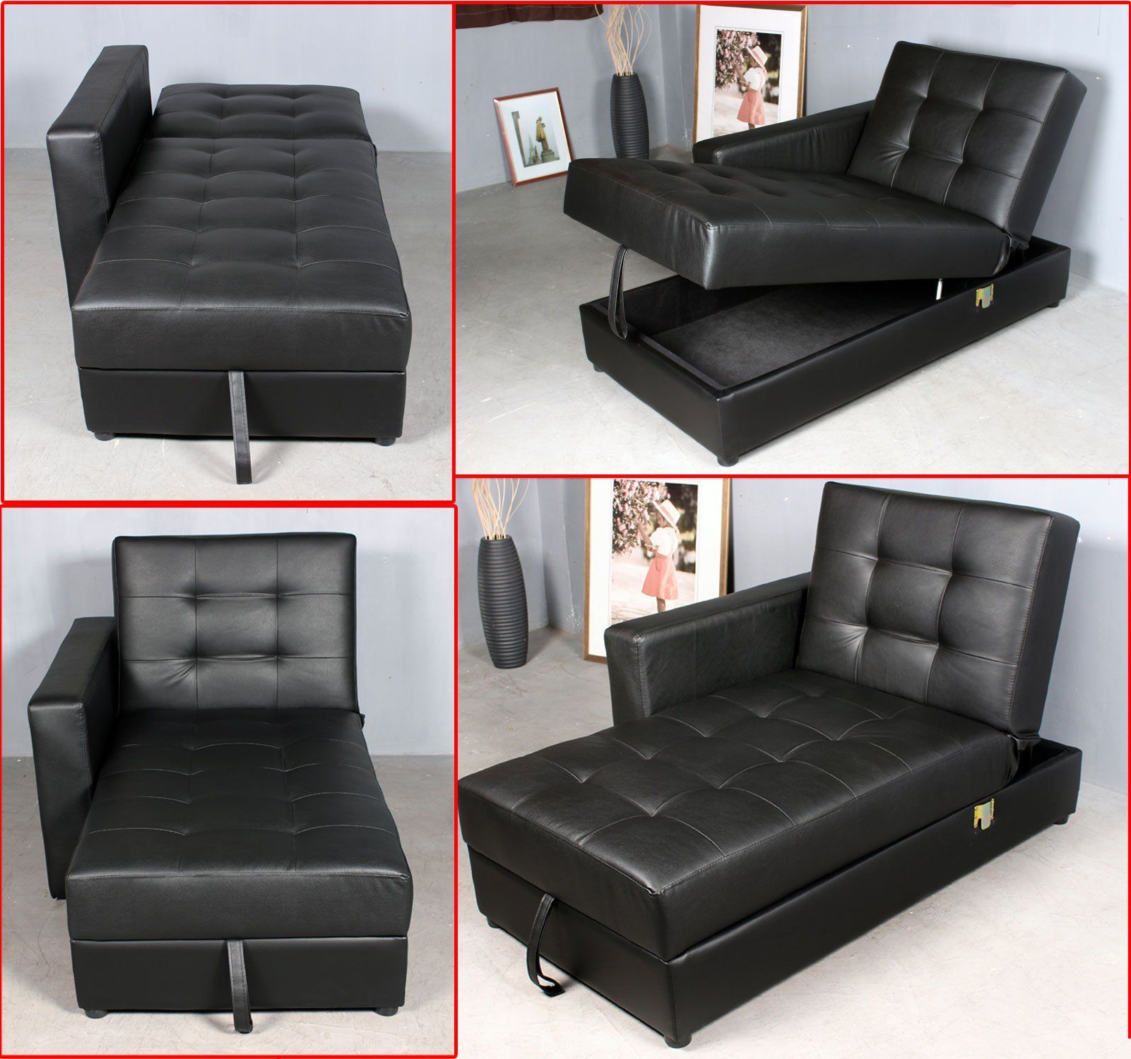 Widely Used Celine Sectional Futon Sofas With Storage Reclining Couch In Homcom Button Tufted Sofa Bed Set Sectional Daybed Storage (View 20 of 20)