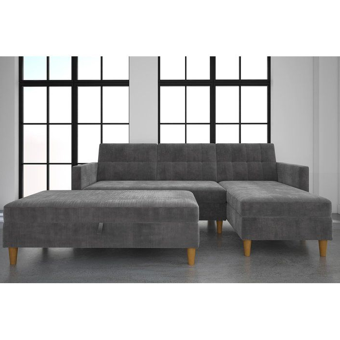 Widely Used Copenhagen Reversible Small Space Sectional Sofas With Storage With This Stigall Futon Storage Reversible Sleeper Sectional Is (View 12 of 20)