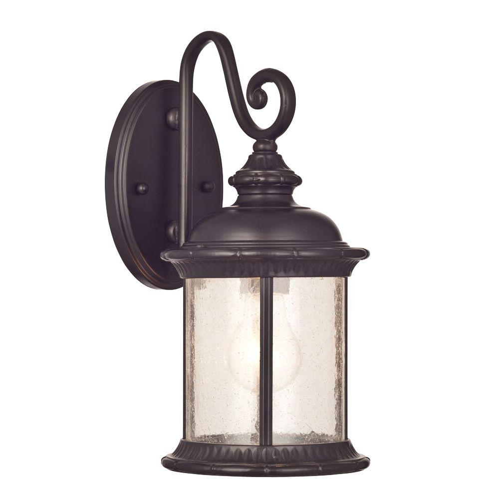 Widely Used Cowhill Dark Bronze Wall Lanterns Regarding Westinghouse New Haven Wall Mount 1 Light Outdoor Oil (View 5 of 20)