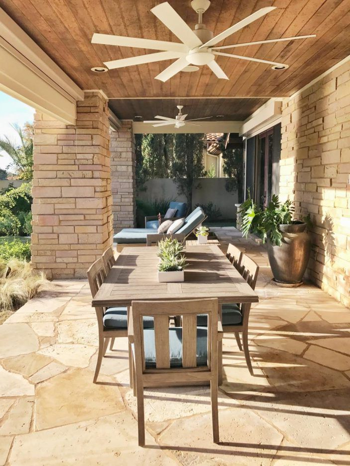Widely Used Design Ideas: Terrace With Ceiling Fans And Table (View 14 of 20)