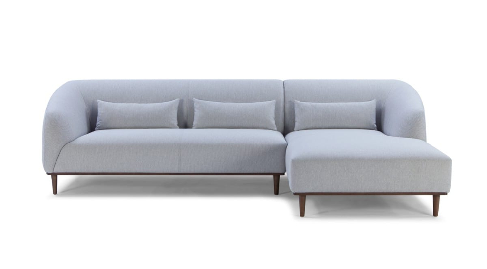 Widely Used Divani Casa Venus Mid Century Modern Grey Fabric Sectional With Regard To Alani Mid Century Modern Sectional Sofas With Chaise (View 20 of 20)